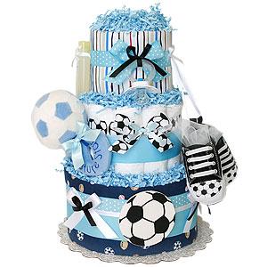 Future Star Soccer Diaper Cake