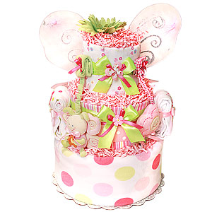 Sunshine Butterfly Diaper Cake