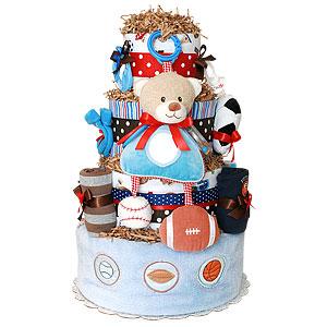 All Star Sport Bear Diaper Cake