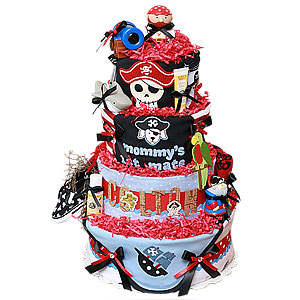 AHOY! Pirate Custom Diaper Cake