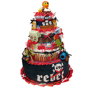 Pirate Diaper Cake