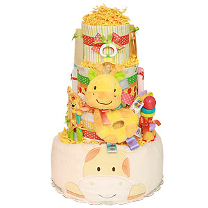 Joyful Little Giraffe Diaper Cake