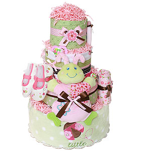 Cutsie Caterpillar Little Bugs Diaper Cake