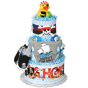 Daddy's First Mate Pirate Diaper Cake