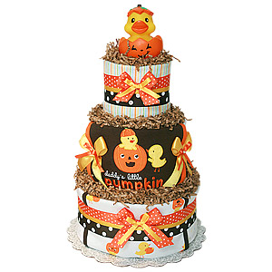 Daddy's Little Pumpkin Diaper Cake