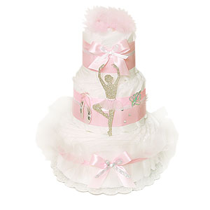 Decoration Ballerina Diaper Cak