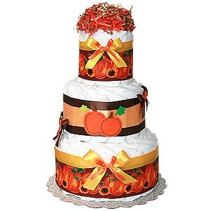 Fall Pumpkin Decoration Diaper Cake