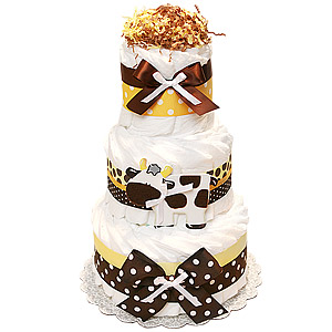 Farm Cow Decoration Diaper Cake