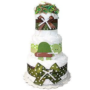 Turtle Decoration Diaper Cake