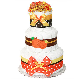 Decoration Pumpkin Diaper Cake
