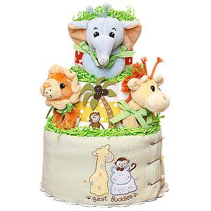 Best Buddies Jungle Diaper Cake