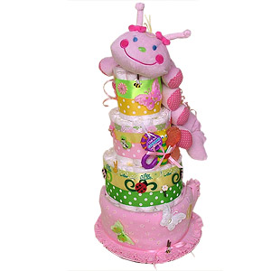 Fun Caterpillar Diaper Cake