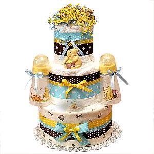 Classic Pooh Diaper Cake II