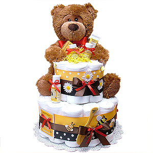 Honey Bear Cloth Diaper Cake