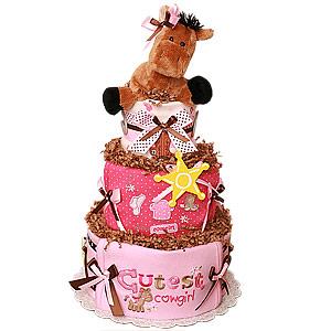 Cute Cowgirl Diaper Cake