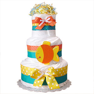 Tropical Fish Decoration Diaper Cake