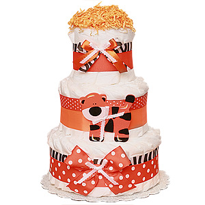 Jungle Tiger Decoration Diaper Cake