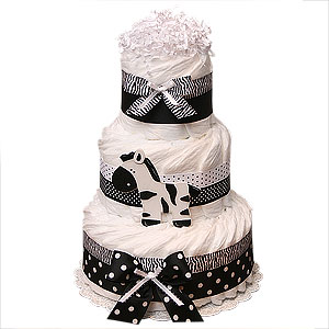Jungle Zebra Decoration Diaper Cake