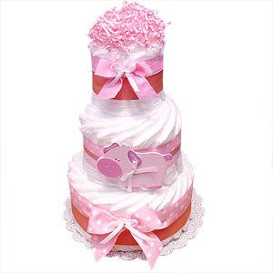 Farm Pig Decoration Diaper Cake