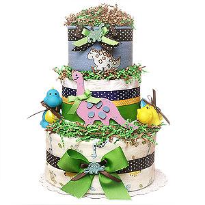 Dino III Diaper Cake