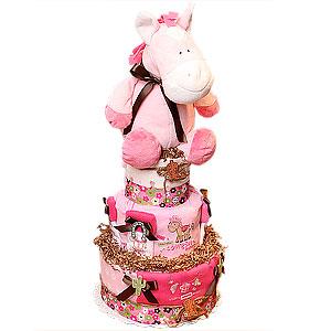 Funny Cowgirl Diaper Cake