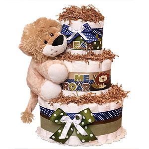 Hear Me ROAR Diaper Cake