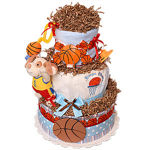 Hoops Champ Sport Diaper Cake