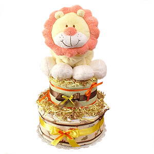 Jungle Lion Diaper Cake