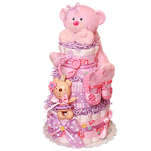 Little Buttons Diaper Cake