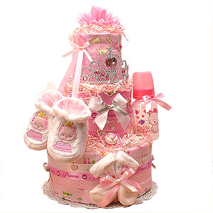 Little Kitty Princess Diaper Cake