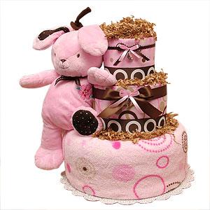Modern Musical Bunny Diaper Cake