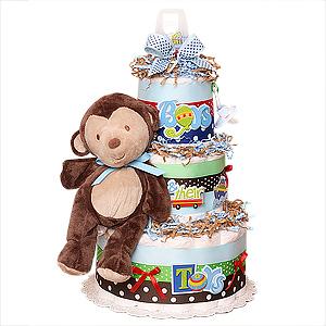 Monkey Boy Diaper Cake