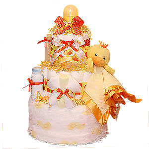 Neutral Duck Diaper Cake