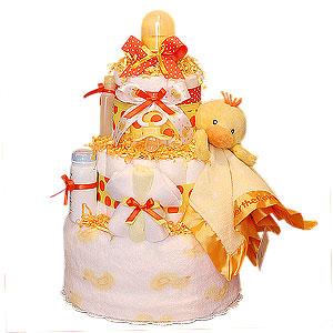 Neutral Duck Diaper Cake