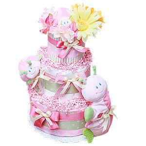 Lady Bug's Life Diaper Cake