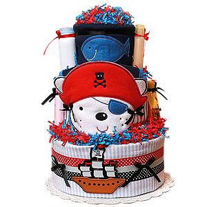 Pirate Diaper Cake for a Boy