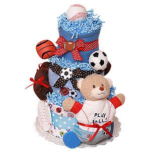 Play Ball! Sport Diaper Cake