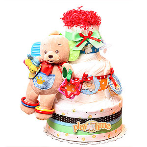 PlayTime Bear Diaper Cake