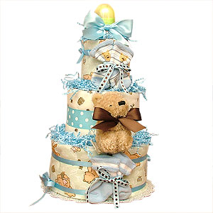 Classic Pooh Diaper Cake for a BOY!
