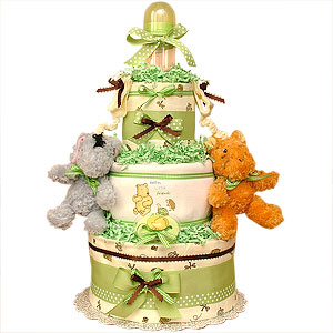 Classic Pooh and His Friends Diaper Cake