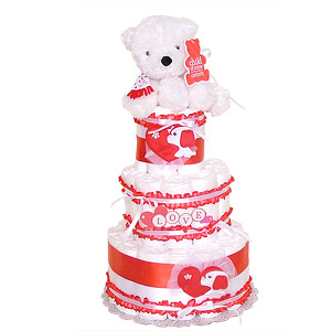 It's All About LOVE Diaper Cake