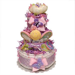Purple Butterfly Diaper Cake