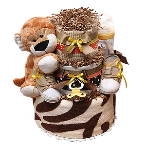 Safari Tiger Diaper Cake