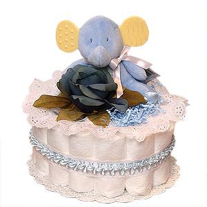 Little Blue Elephant Diaper Cake