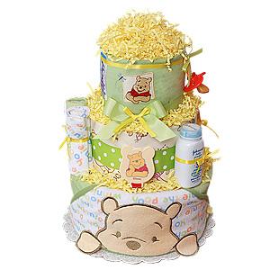 Winnie The Pooh Bath Diaper Cake