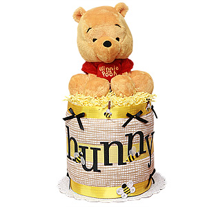 Winnie the Pooh Hunny Pot Diaper Cake