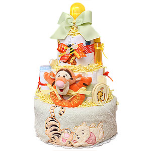Winnie the Pooh Tigger Diaper Cake