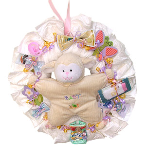 Little Lamb Diaper Wreath