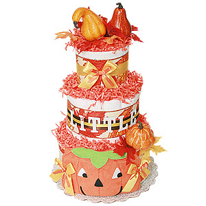 Fall Little Pumpkin Diaper Cake