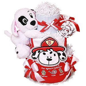 Firefighter Diaper Cake
